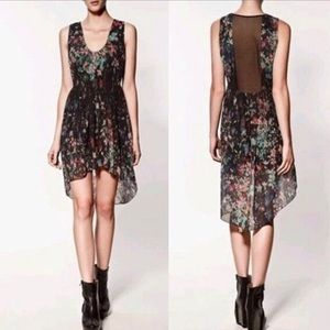 Zara High-Low watercolor Dress